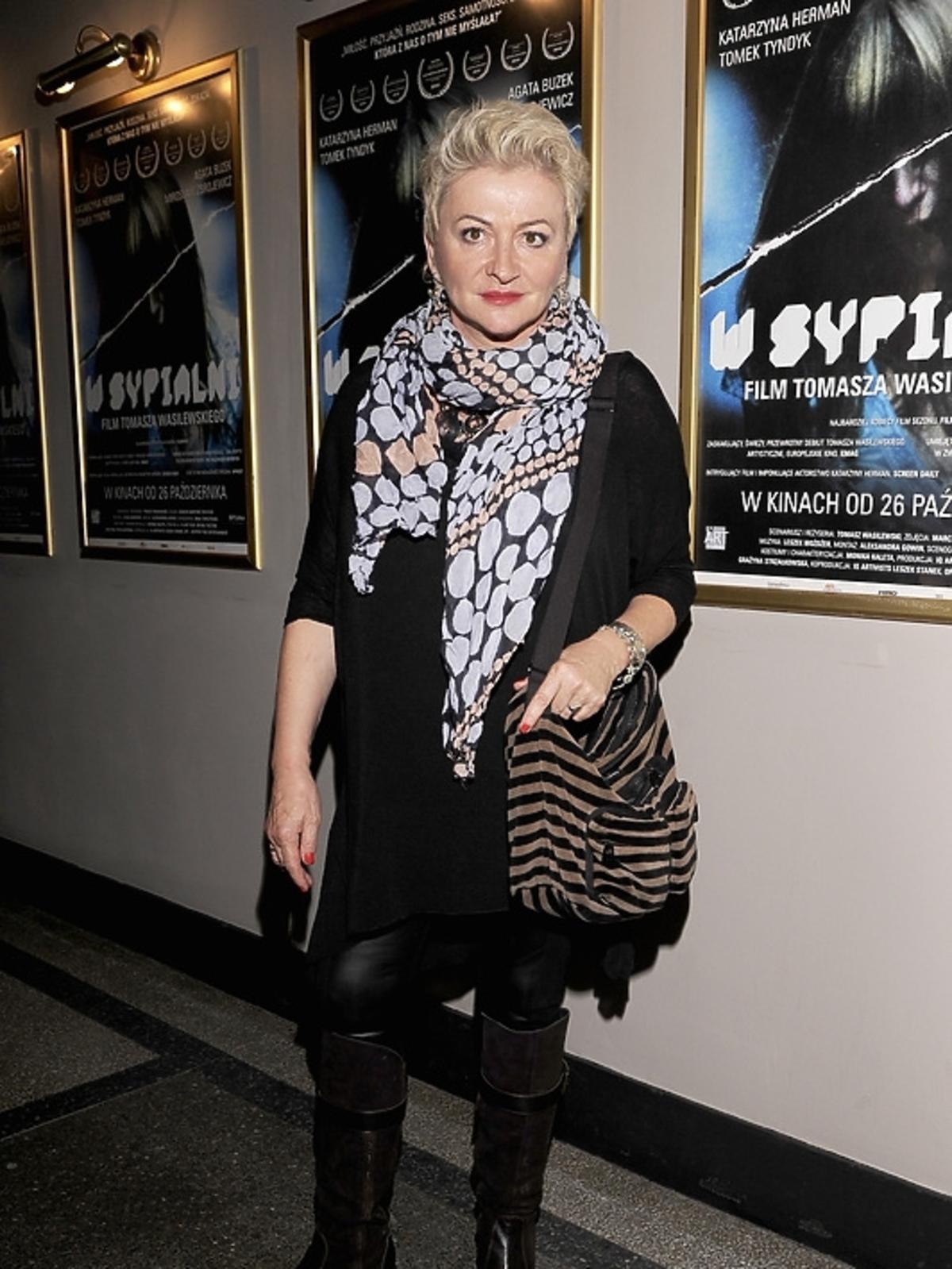 Hanna Bakuła na premierze filmu