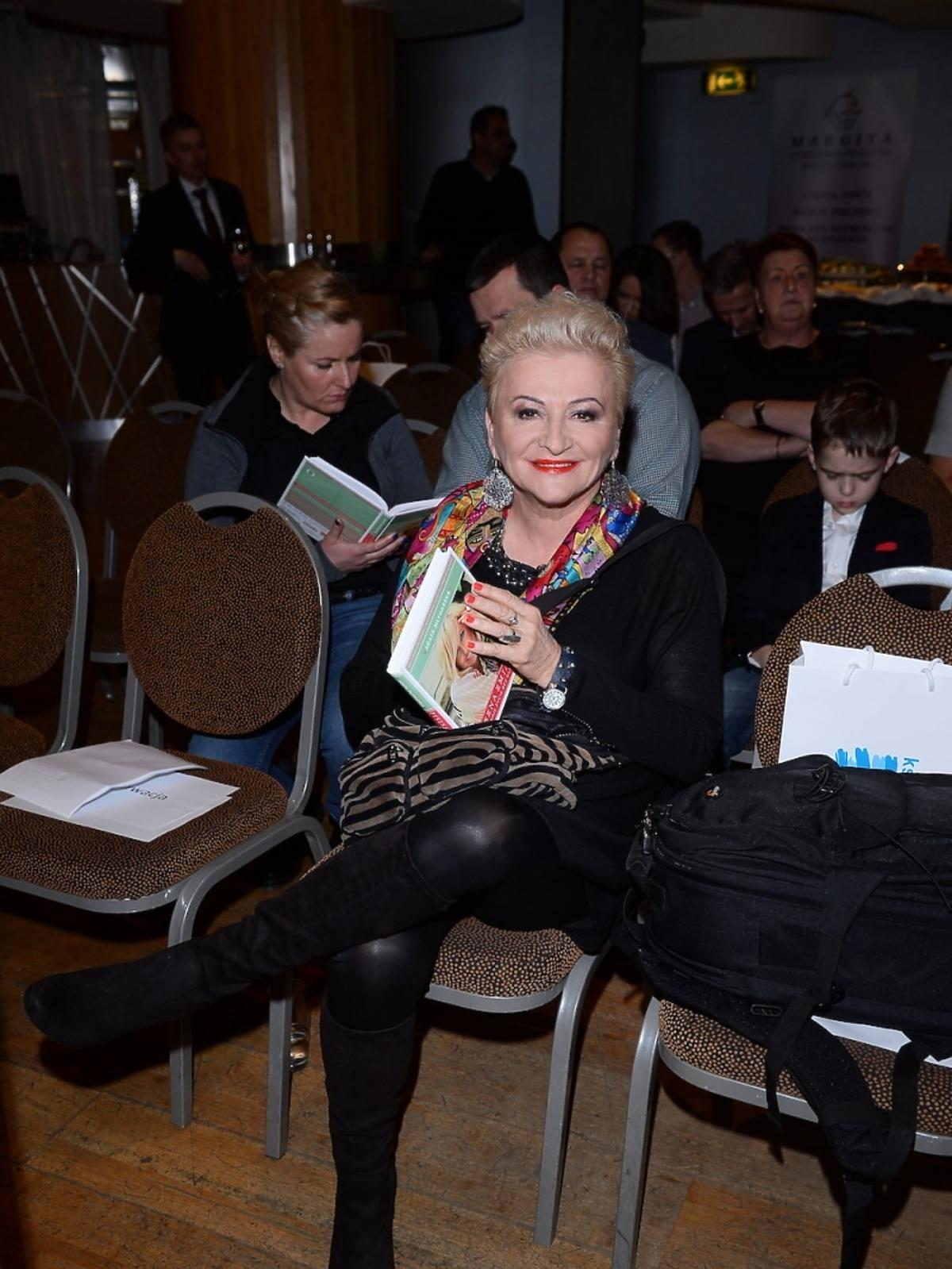Hanna Bakuła na premierze książki Agaty Młynarskiej