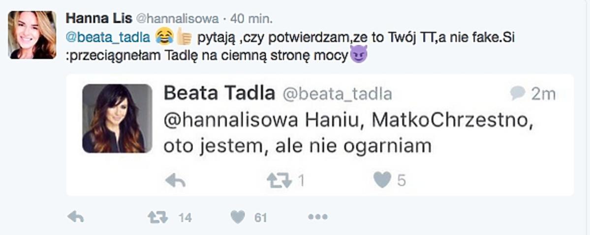 Hanna Lis, Beata Tadla
