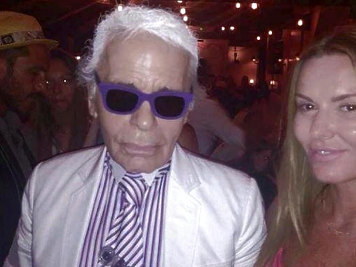 Hanna Lis imprezuje z Karlem Lagerfeldem