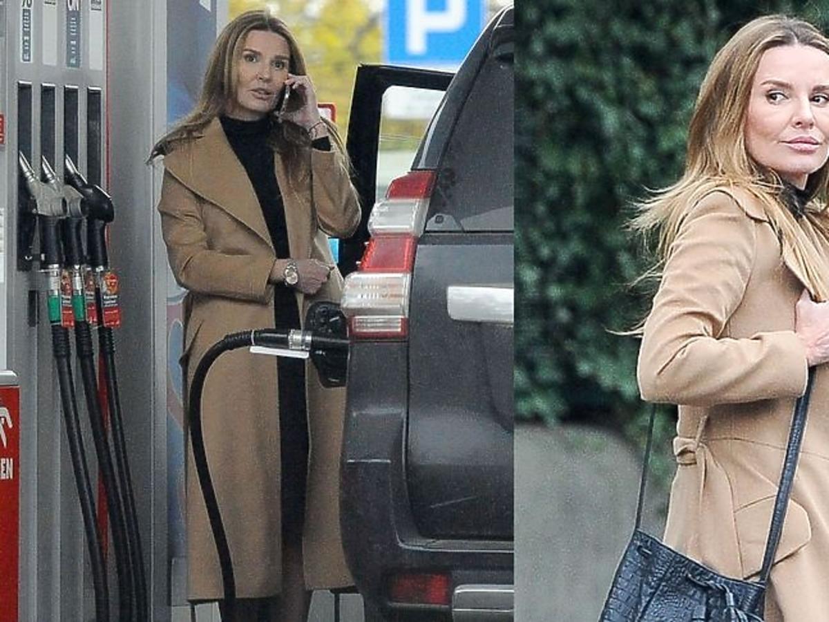 Hanna Lis na stacji benzynowej