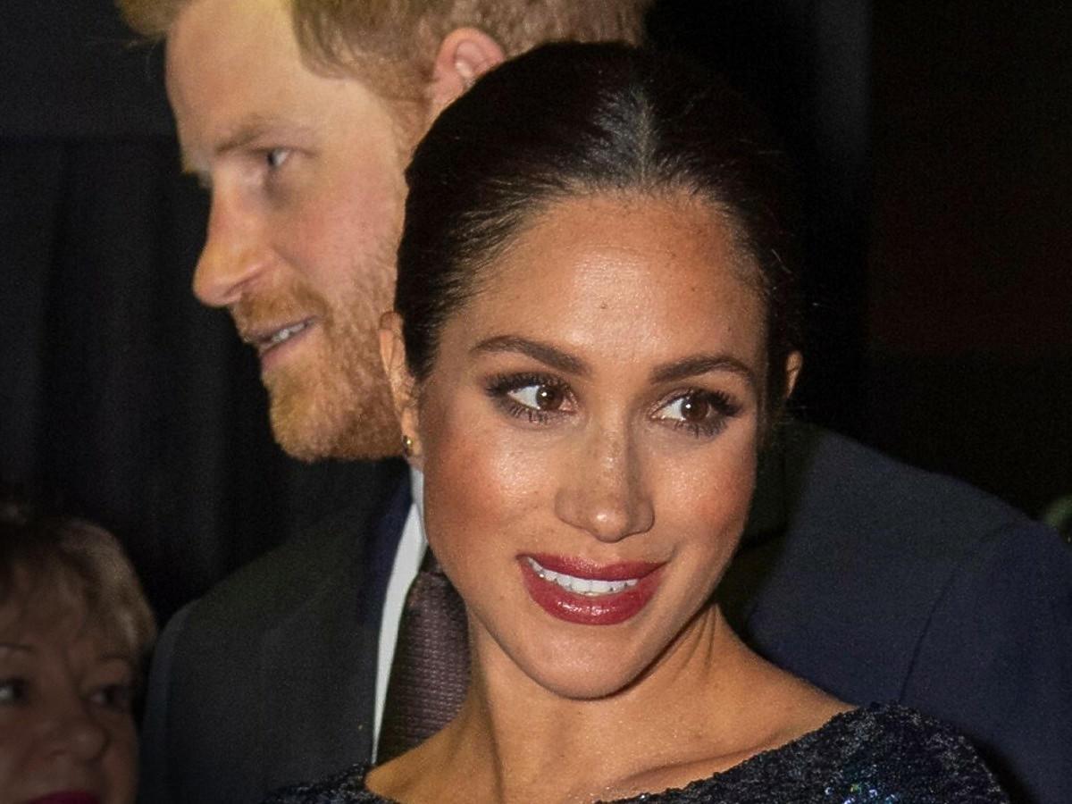 Harry i ciężarna Meghan podczas imprezy charytatywnej w styczniu 2019, w Royal Albert Hall