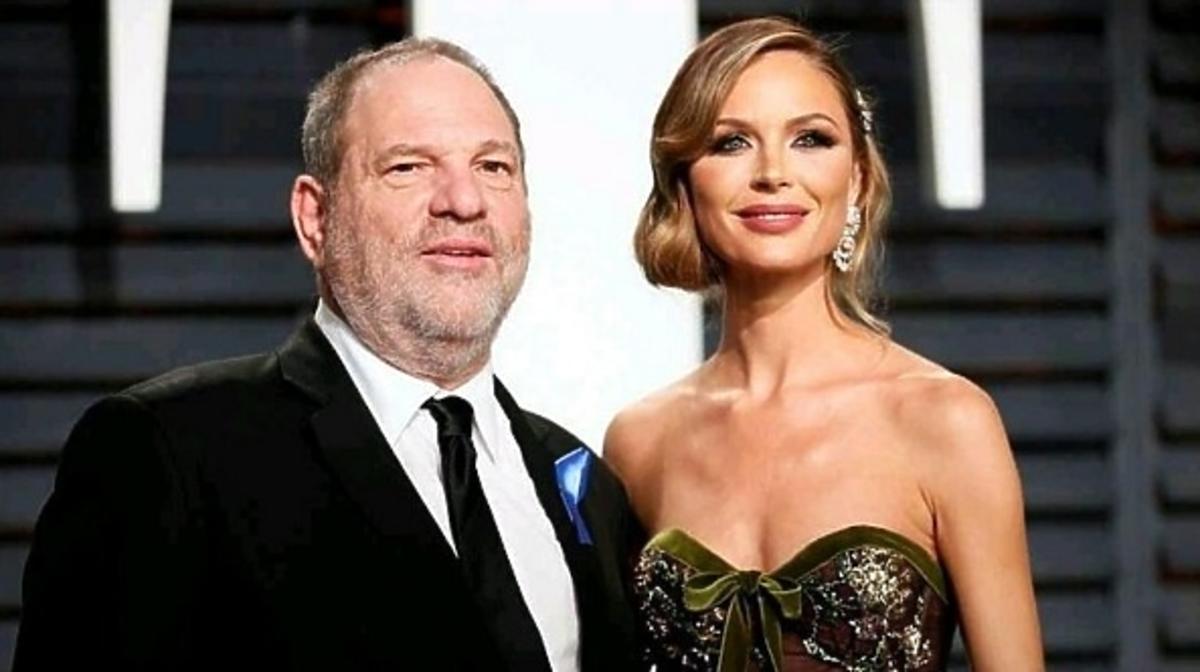 Harvey Weinstein z żoną