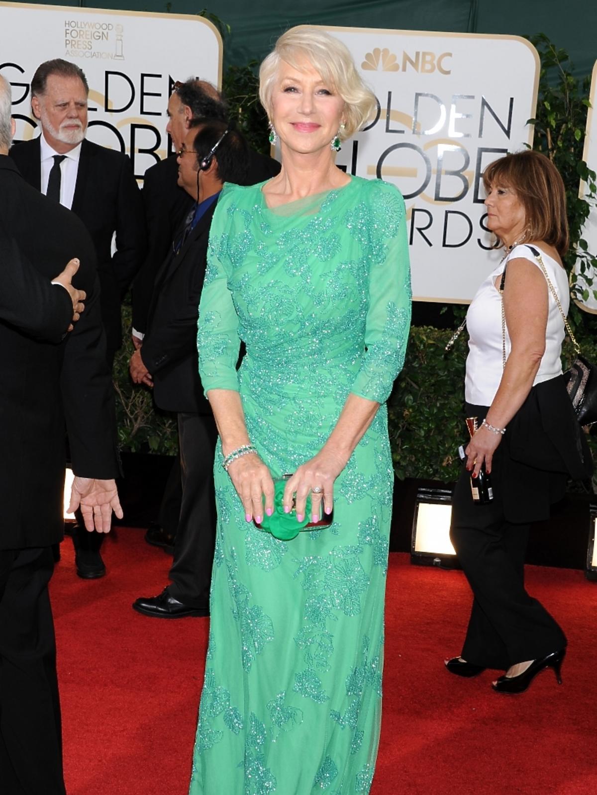 Helen Mirren na rozdaniu Złotych Globów 2014