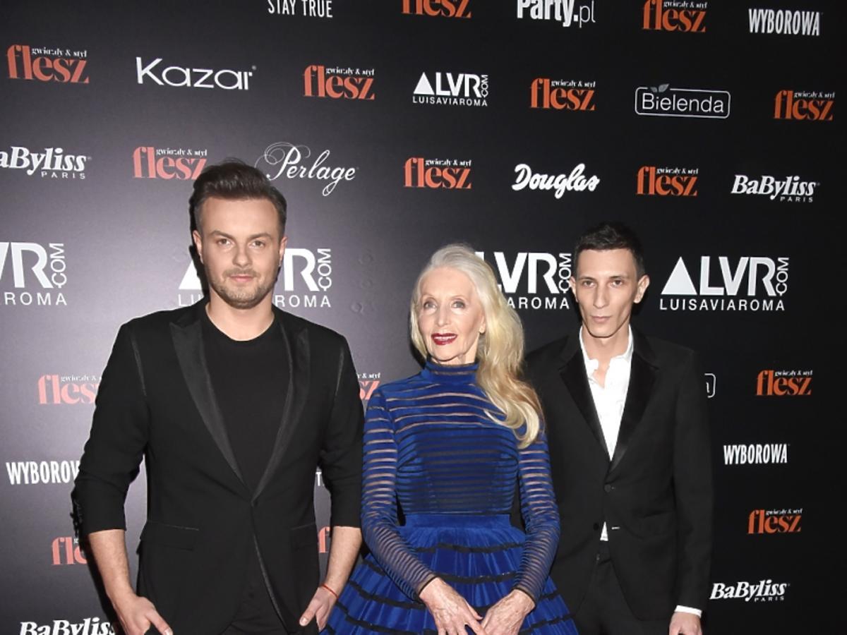 Helena Norowicz i Bohoboco na ściance Flesz Fashion Night