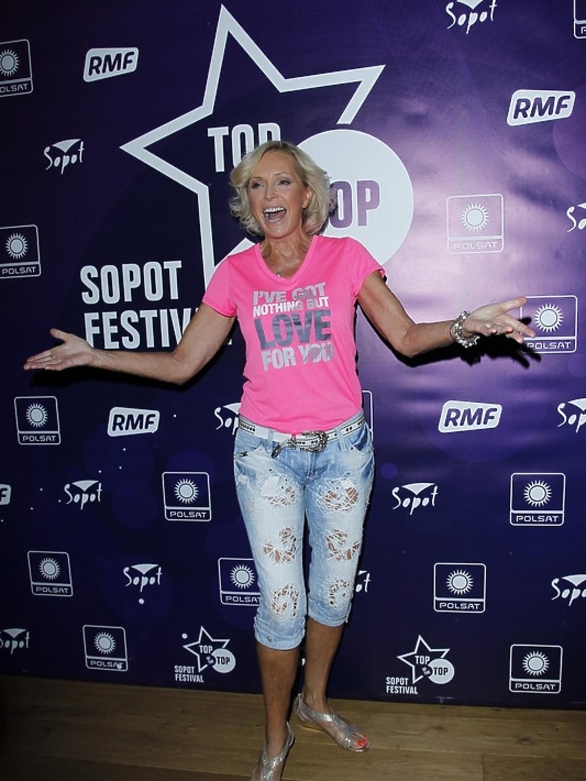 Helena Vondráčková podczas konferencji Sopot Top of the Top Festival 2013