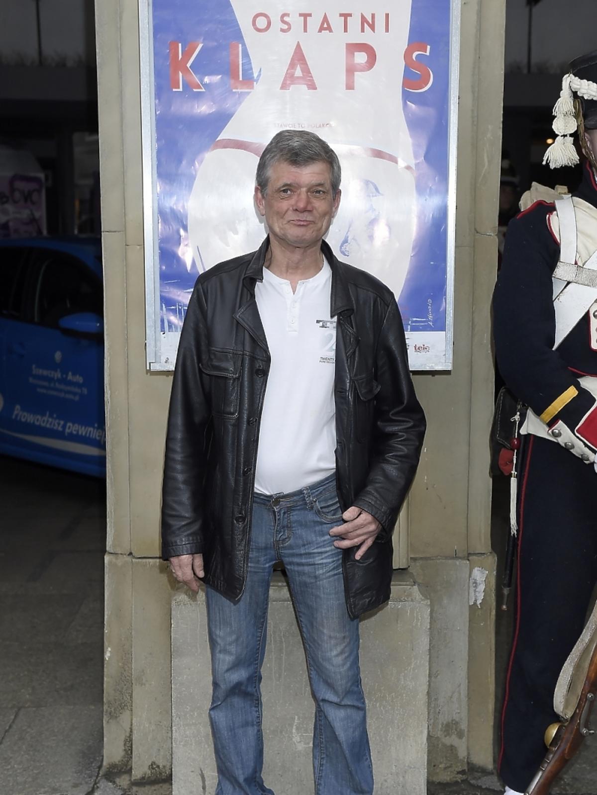Henryk Gołębiewski na premierze filmu