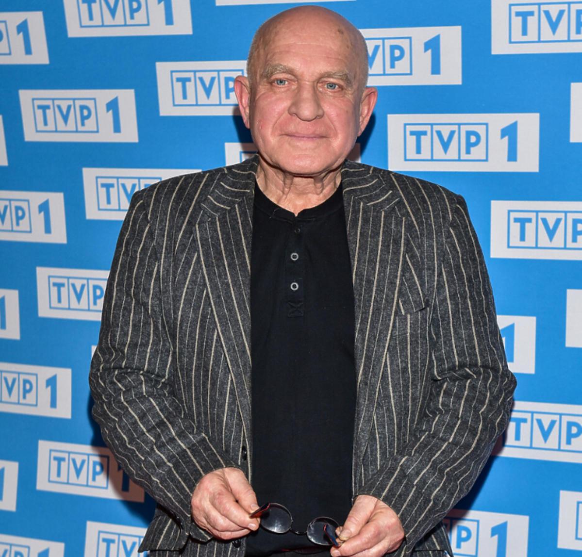 Henryk Talar na konferencji prasowej TVP