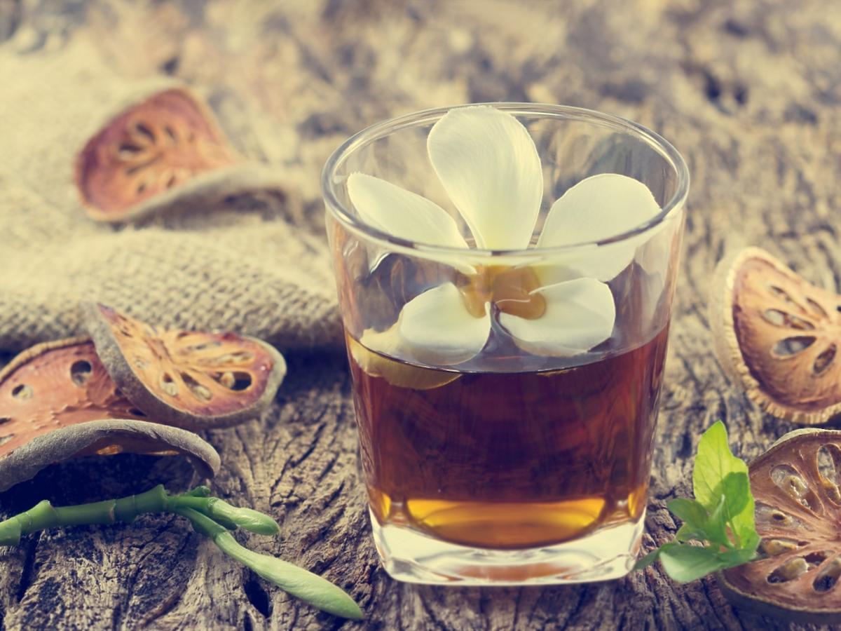 Herbata z kwiatem