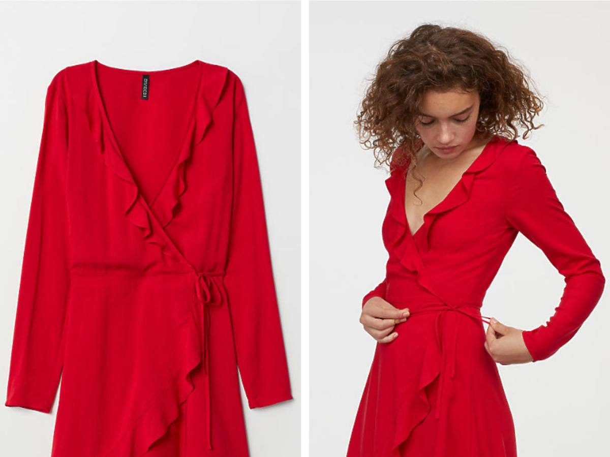 H&M sukienka kopertowa