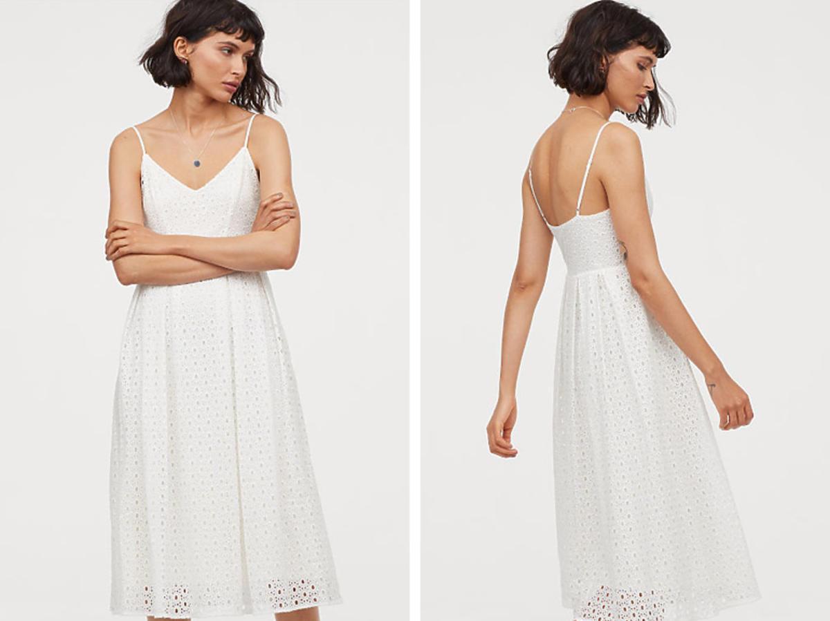 H&M suknia z haftem 299,99 zł