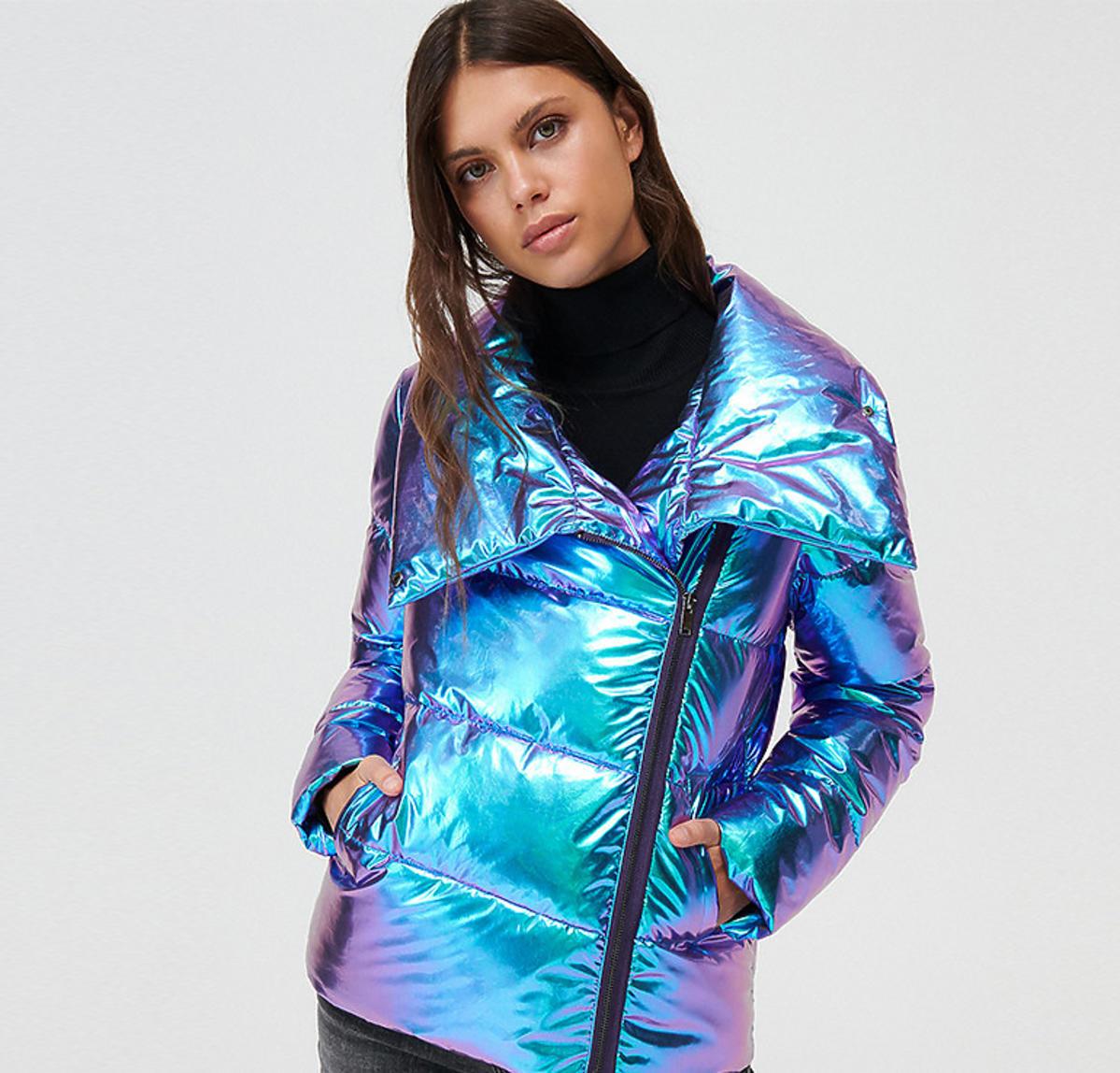 Holograficzna kurtka z Mohito
