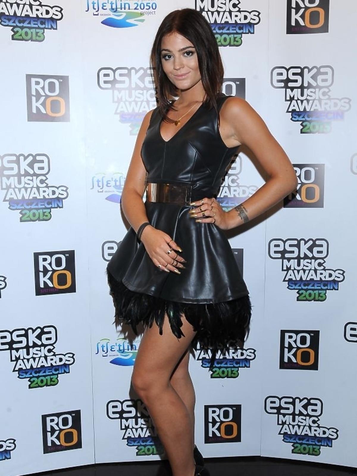 Honorata Honey Skarbek na gali Eska Music Awards 2013