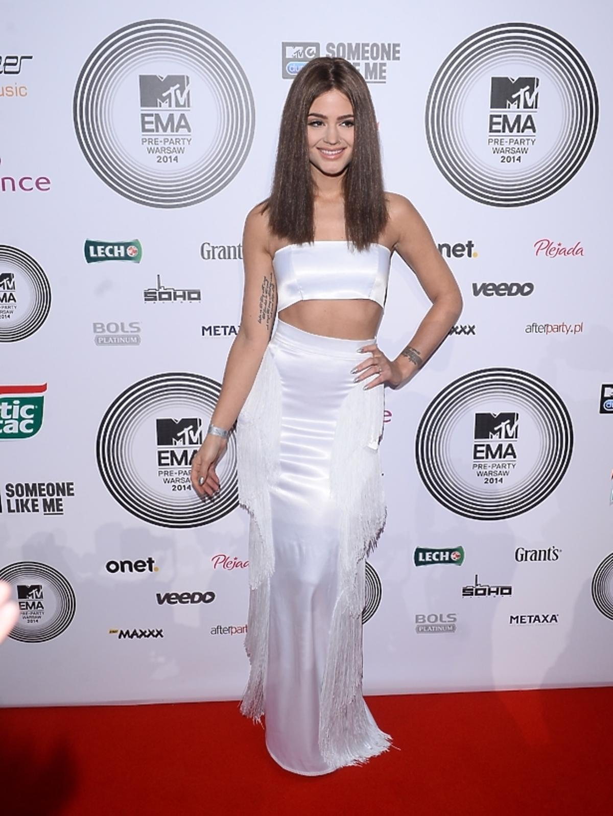 Honorata Skarbek w nowej fryzurze na MTV EMA 2014 Pre-Party