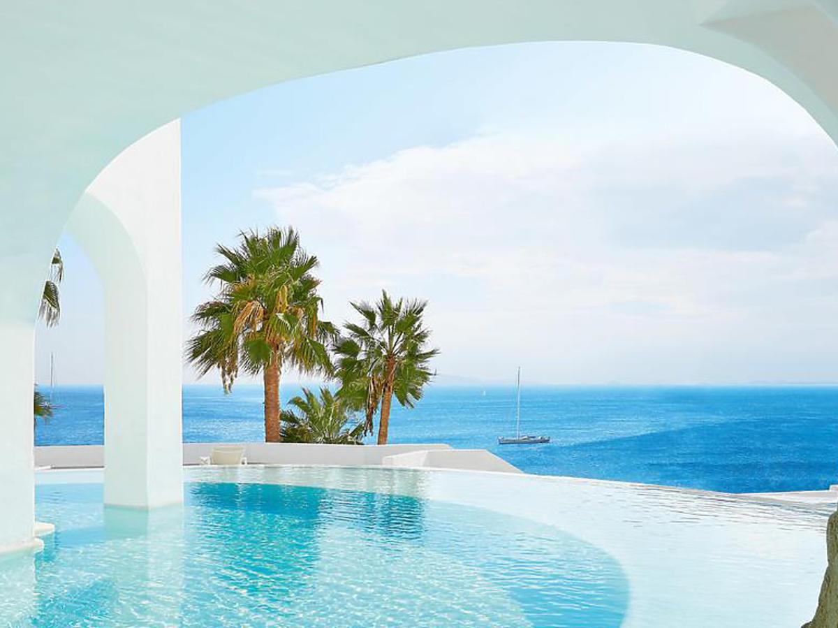 Hotel Lewandowskich i Szczęsnych na wyspie Mykonos