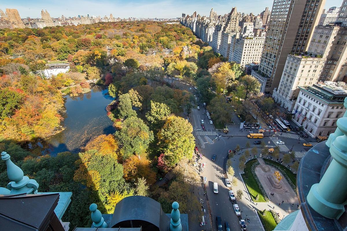 Hotel Plaza, widok na Central Park w Nowym Jorku
