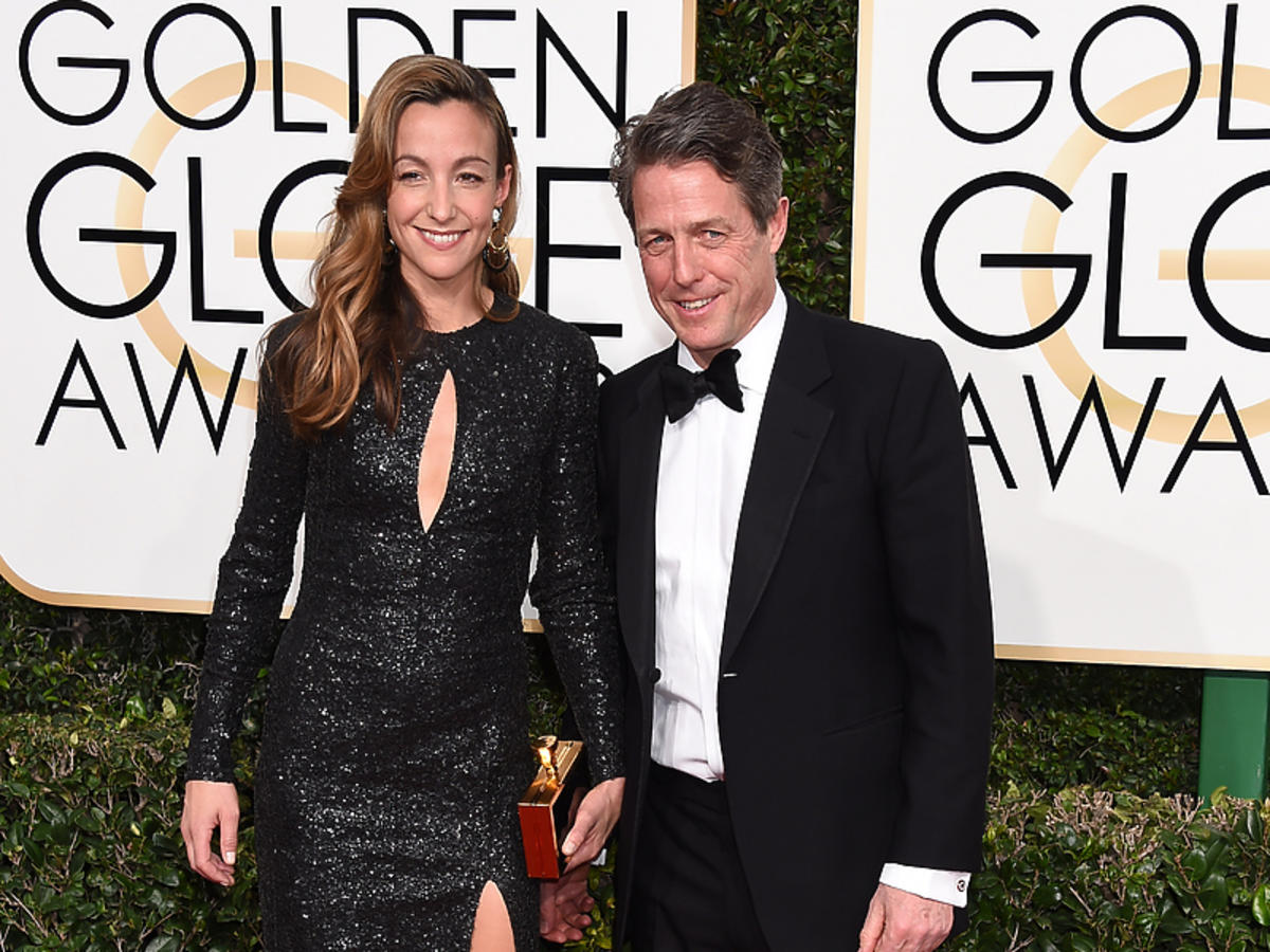 Hugh Grant na rozdaniu Złotych Globów
