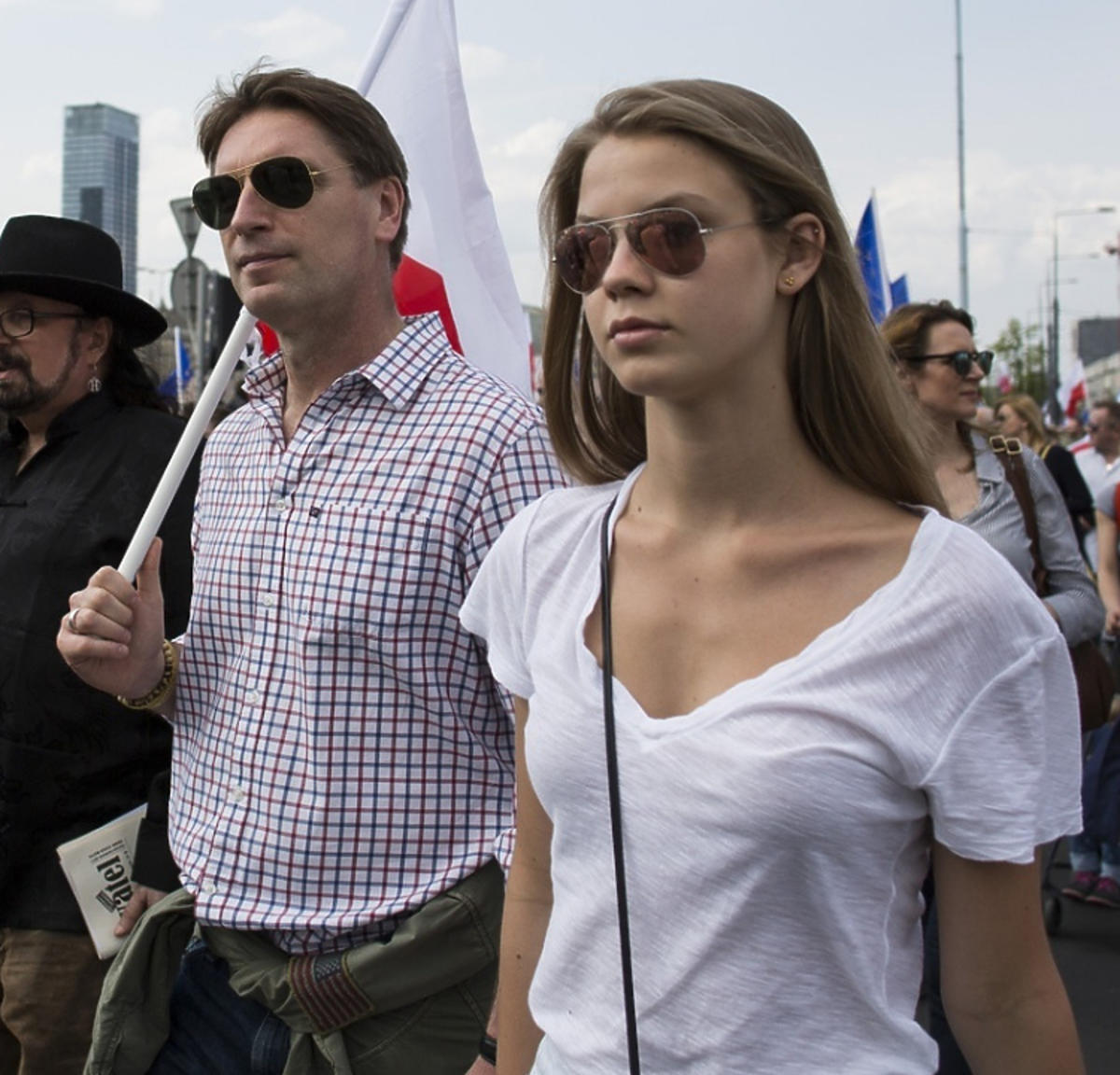 Iga Lis Tomasz Lis na marszu