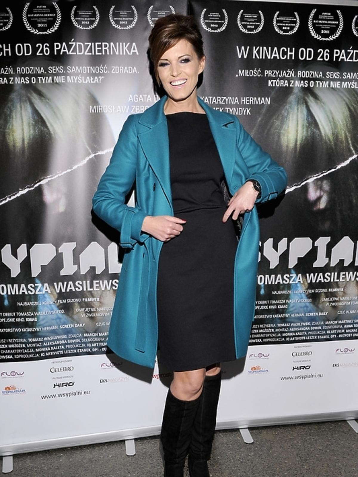 Ilona Felicjańska na premierze filmu