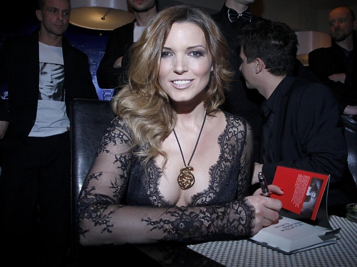 Ilona Felicjańska na promocji swojej książki