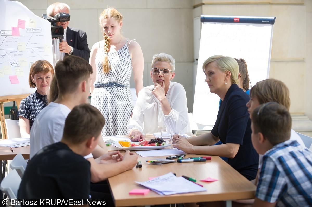 Ilona Felicjańska na spotkaniu z Agatą Dudą