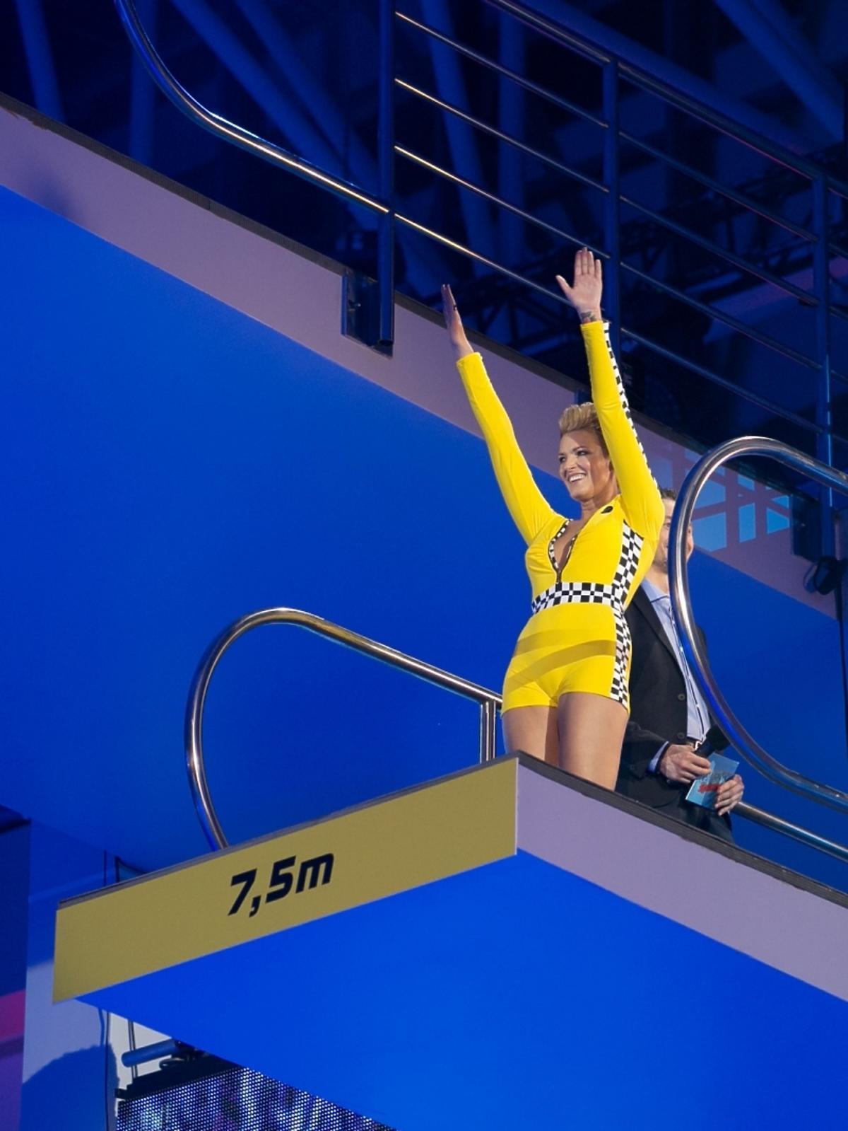 Ilona Felicjańska w pierwszym odcinku Celebrity Splash