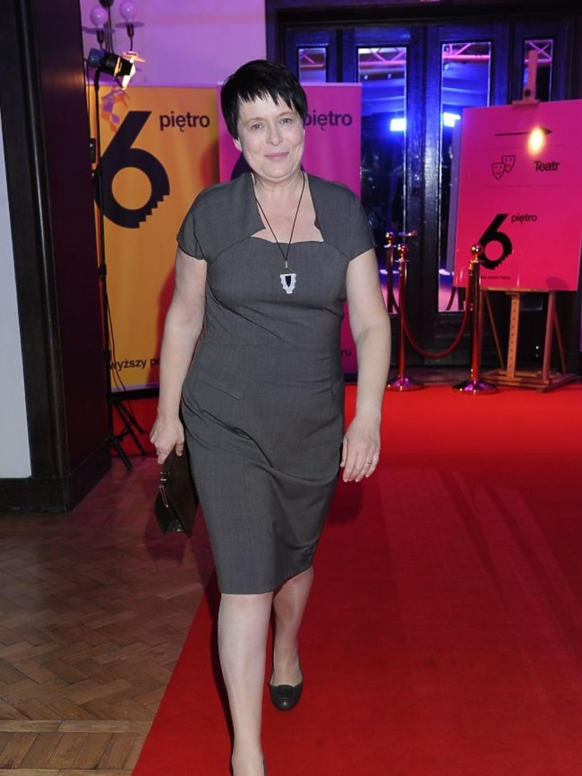 Ilona Łepkowska na premierze sztuki