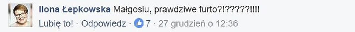 Ilona Łepkowska skomentowała zdjęcie Małgorzaty Kożuchowskiej
