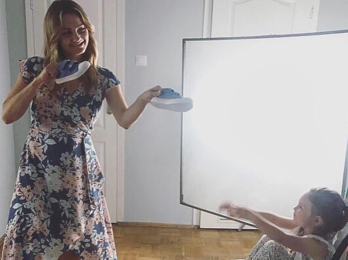 Inga z córką Marysią w 14. sezonie Przyjaciółek