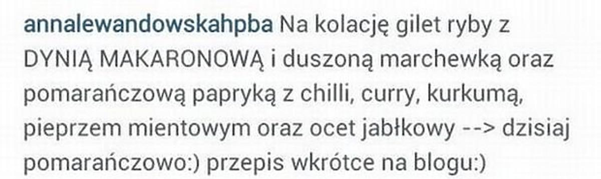 Instagram Anny Lewandowskiej