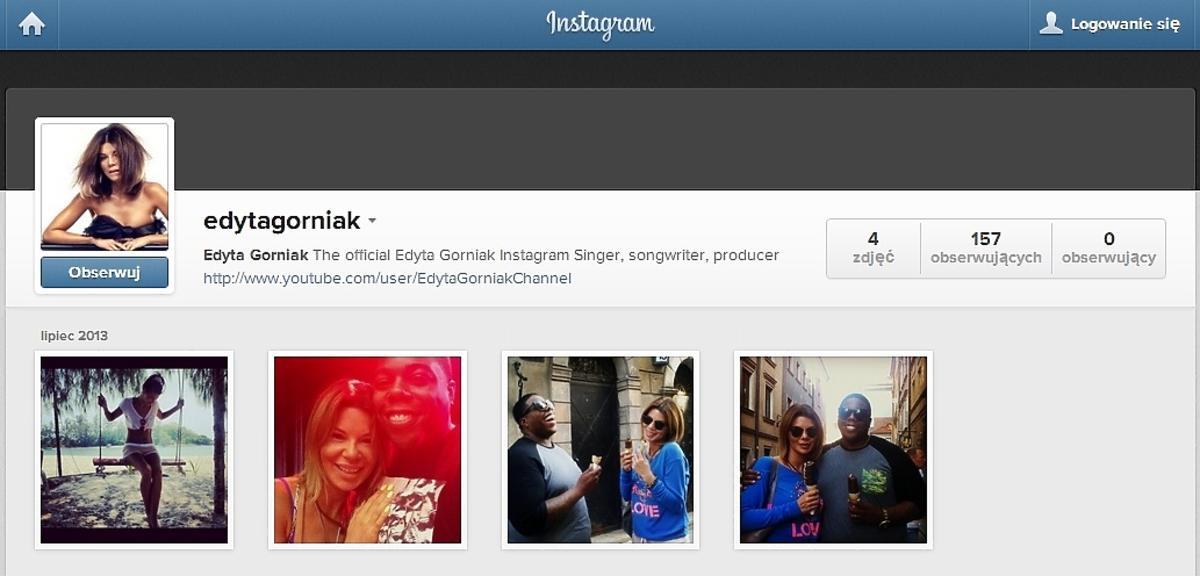 Instagram Edyty Górniak