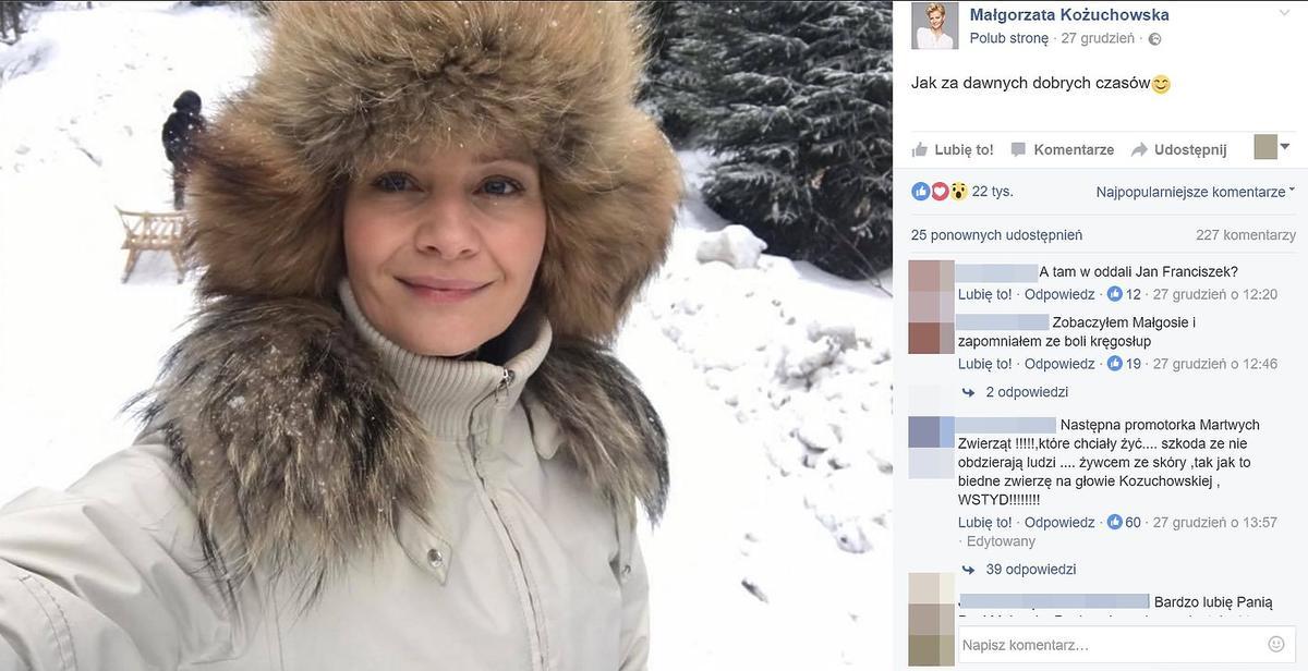 Internauci krytykują Małgorzatę Kożuchowską
