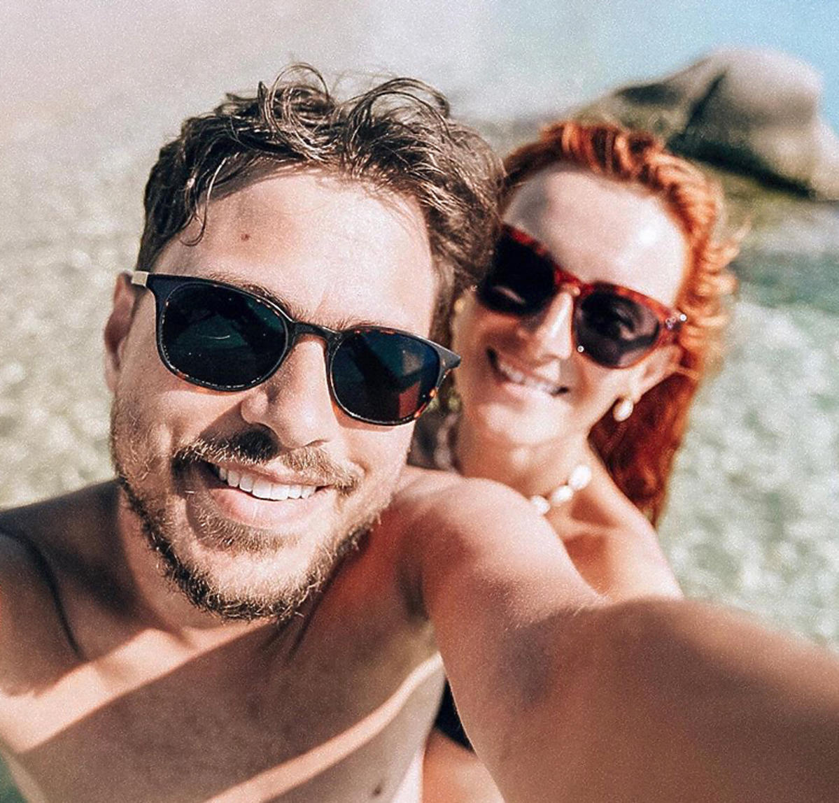 Iwona Cichosz z mężem
