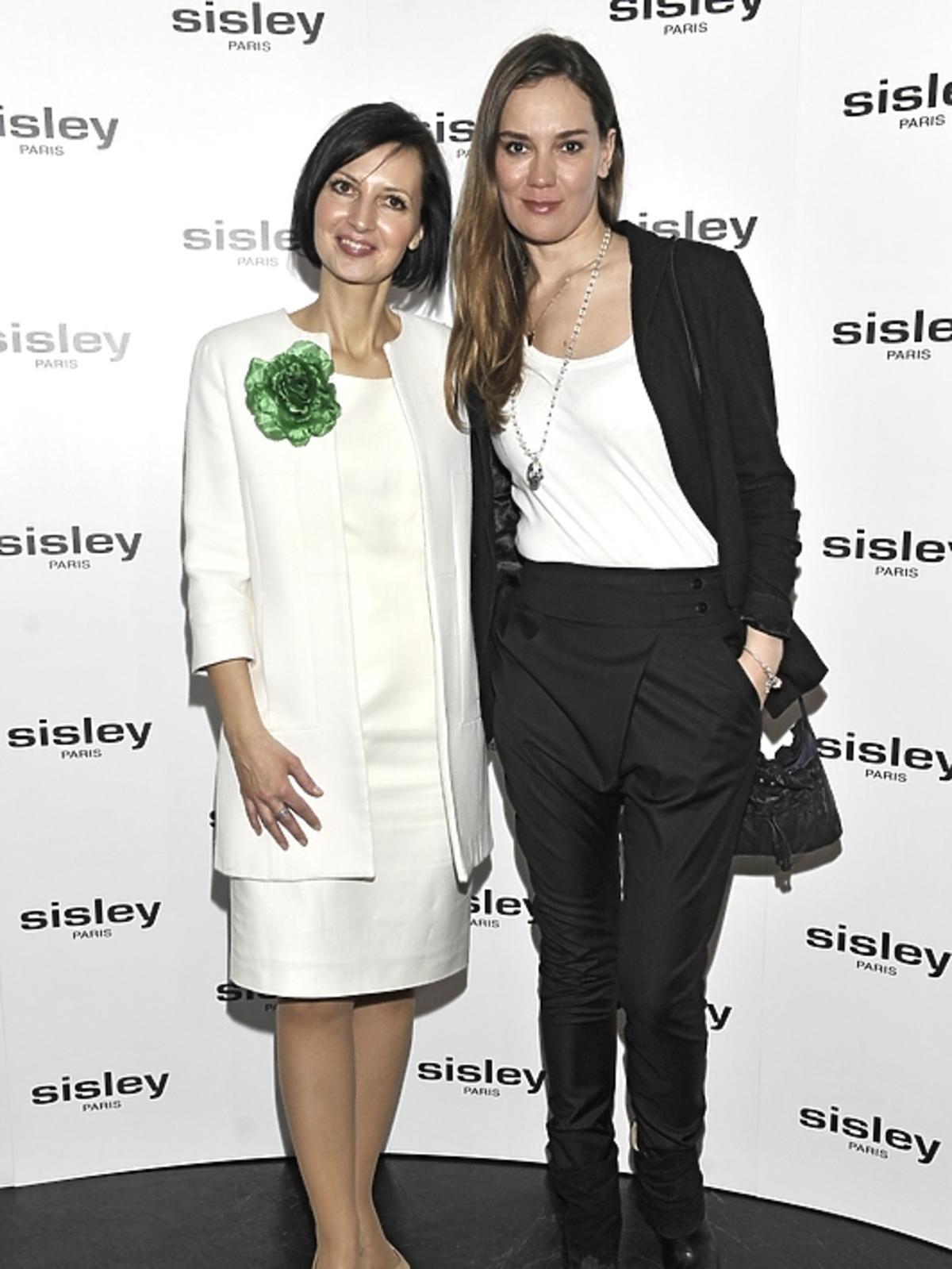Iwona Kamińska i Aleksandra Nieśpielak na prezentacji kosmetyków Sisley