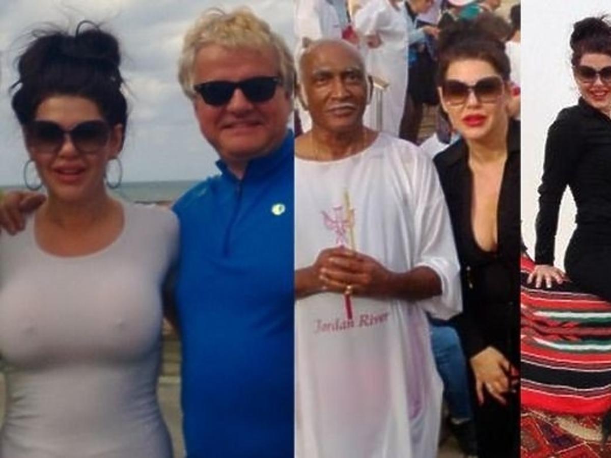 Iwona Węgrowska i Krzysztof Madeyski na wakacjach w Izraelu