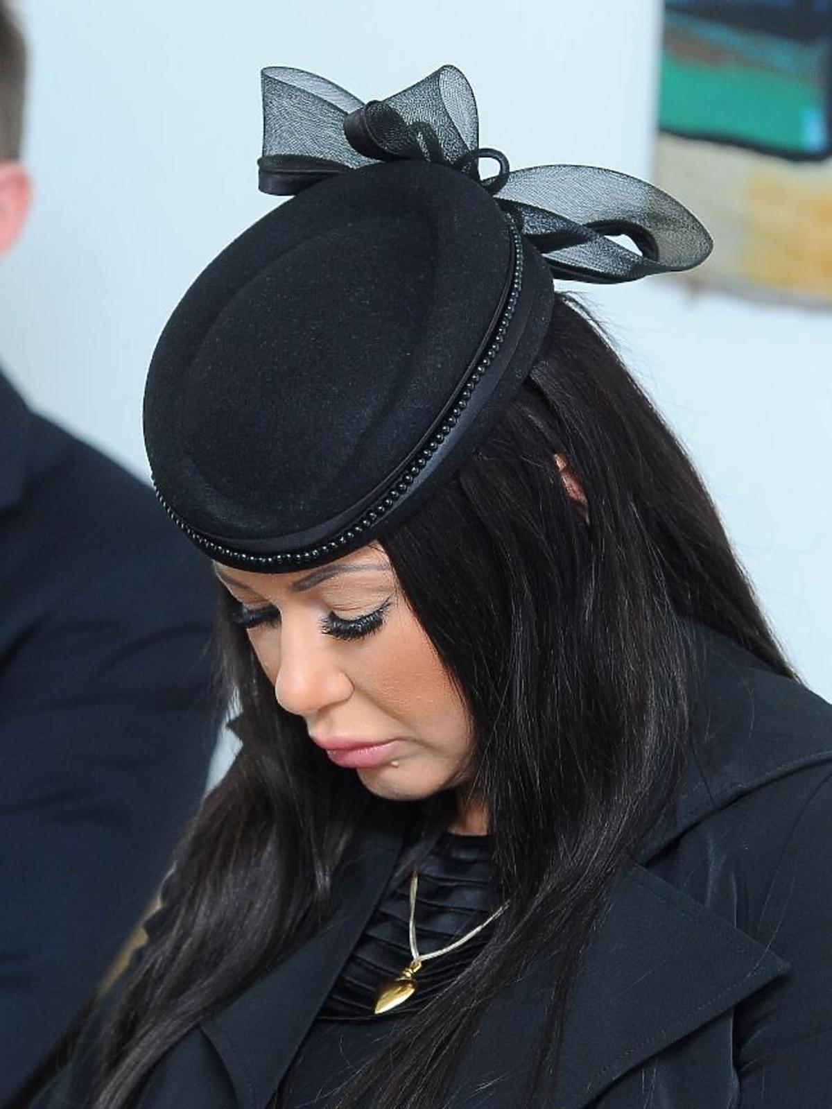 Iwona Węgrowska w żałobie podczas konferencji w sprawie seks afery