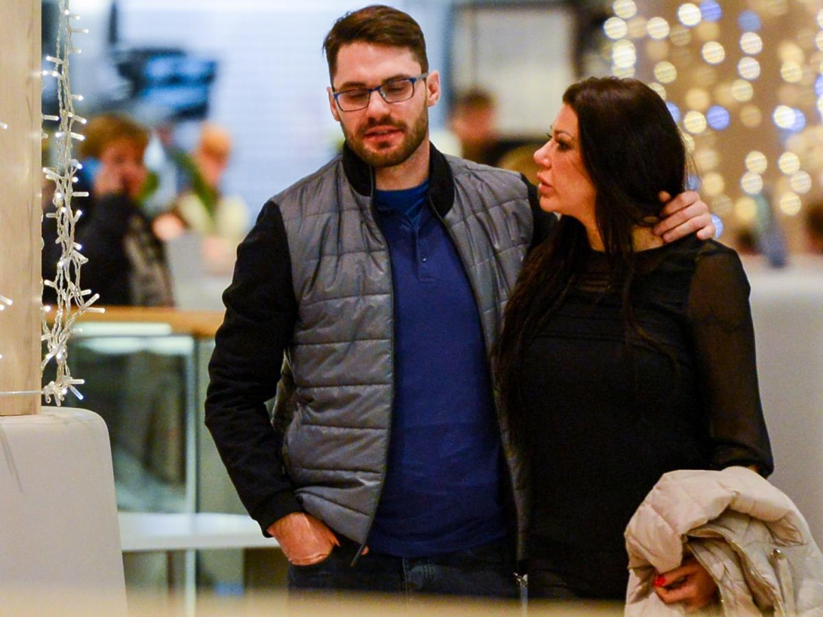 Iwona Węgrowska z partnerem w kinie