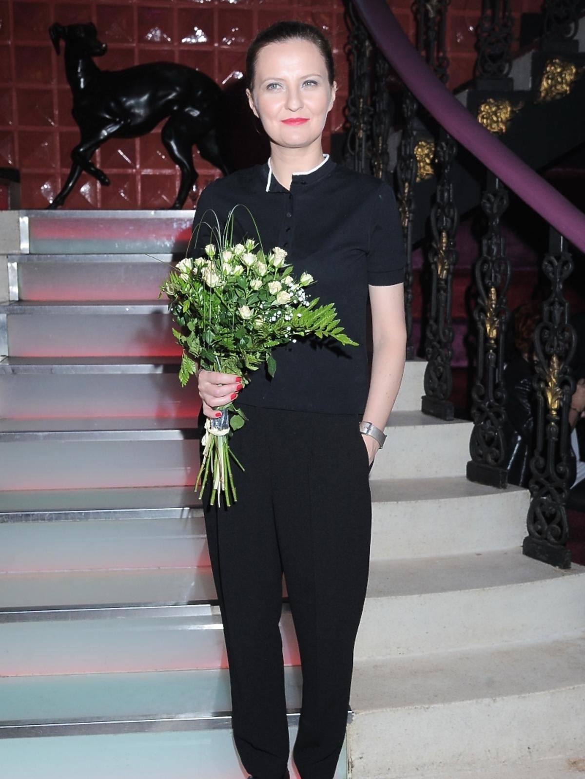 Iza Kuna na premierze spektaklu