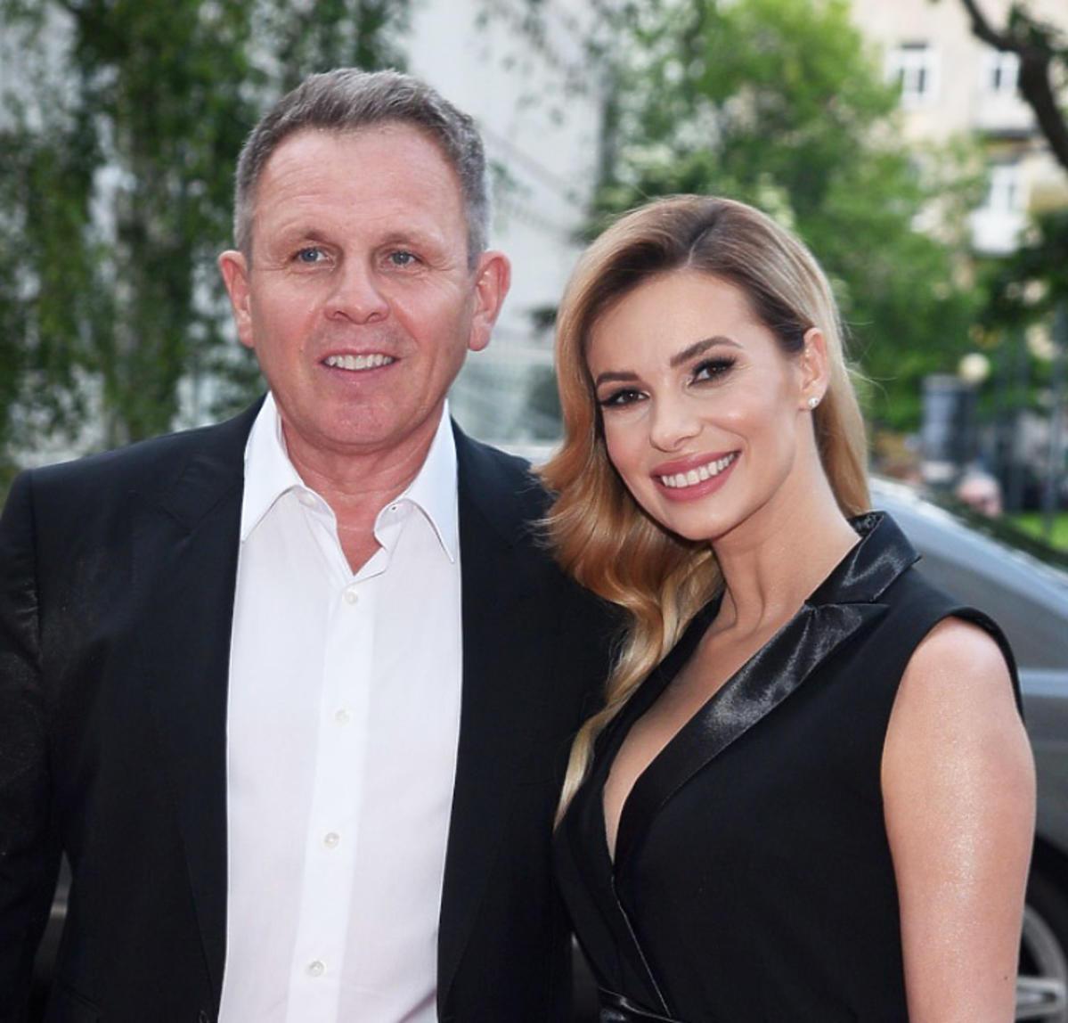 Izabela Janachowska i jej mąż Krzysztof Jabłoński pojawili się na imprezie biznesowej