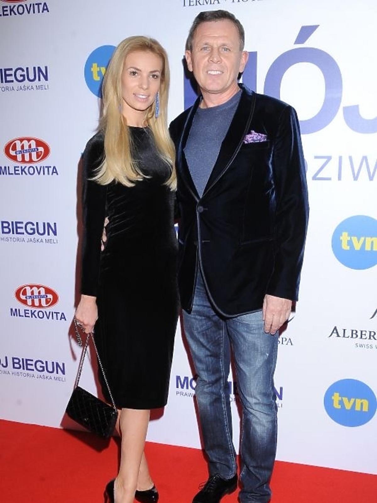 Izabela Janachowska i Krzysztof Jabłoński na premierze filmu