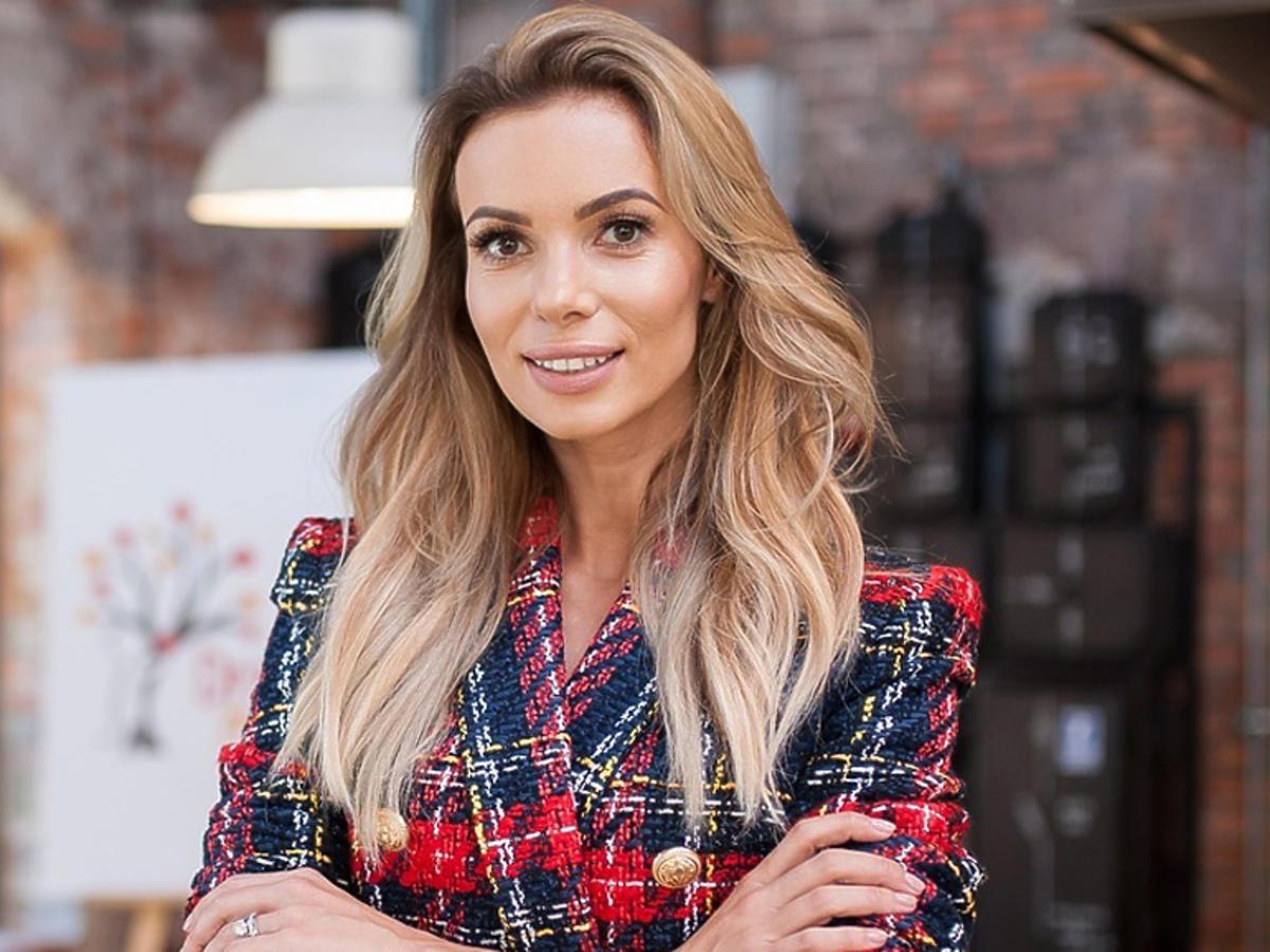 Izabela Janachowska na planie programu TVN Style