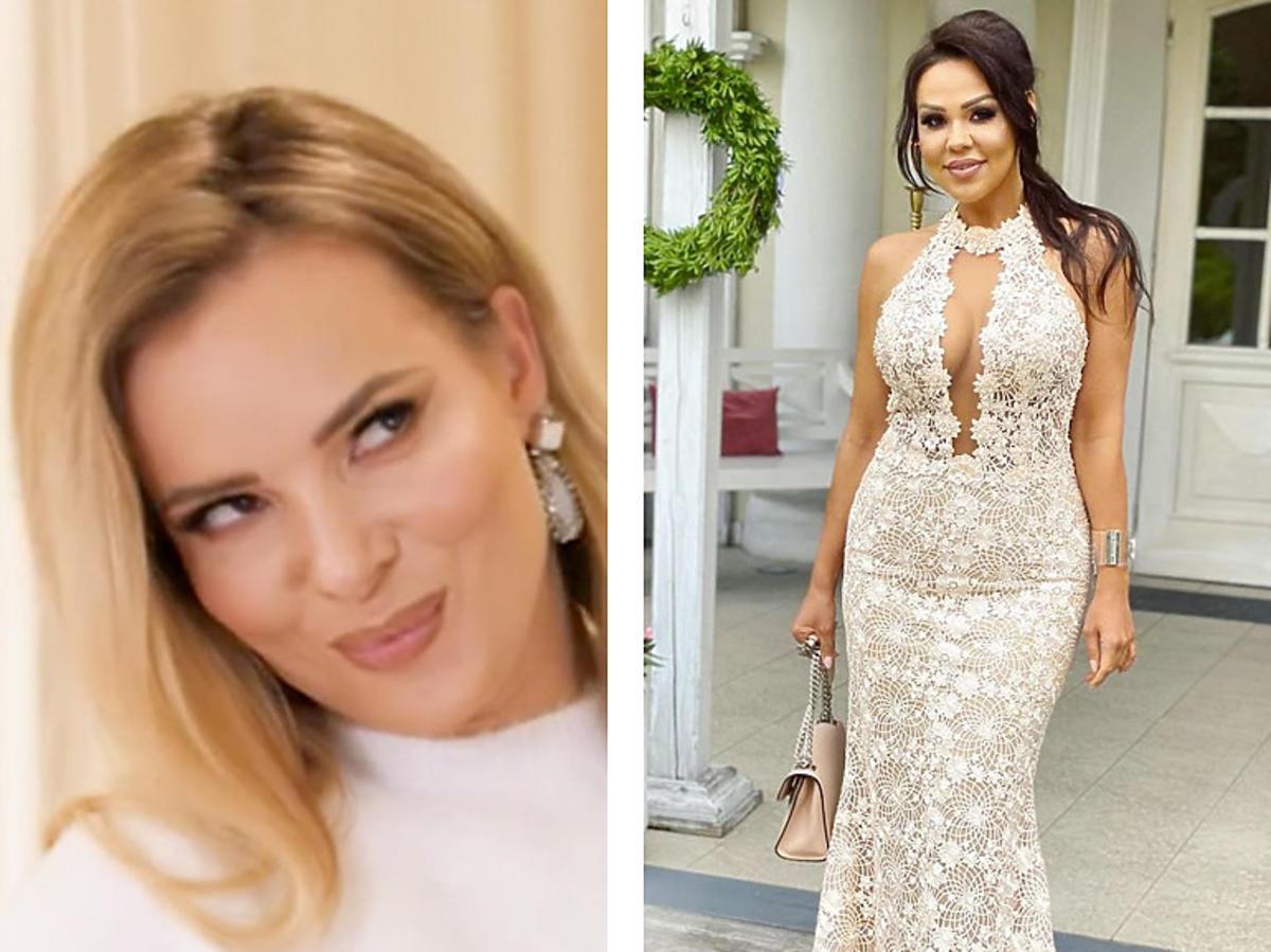Izabela Janachowska ocenia suknię Sylwii Bomby na ślubie koleżanki
