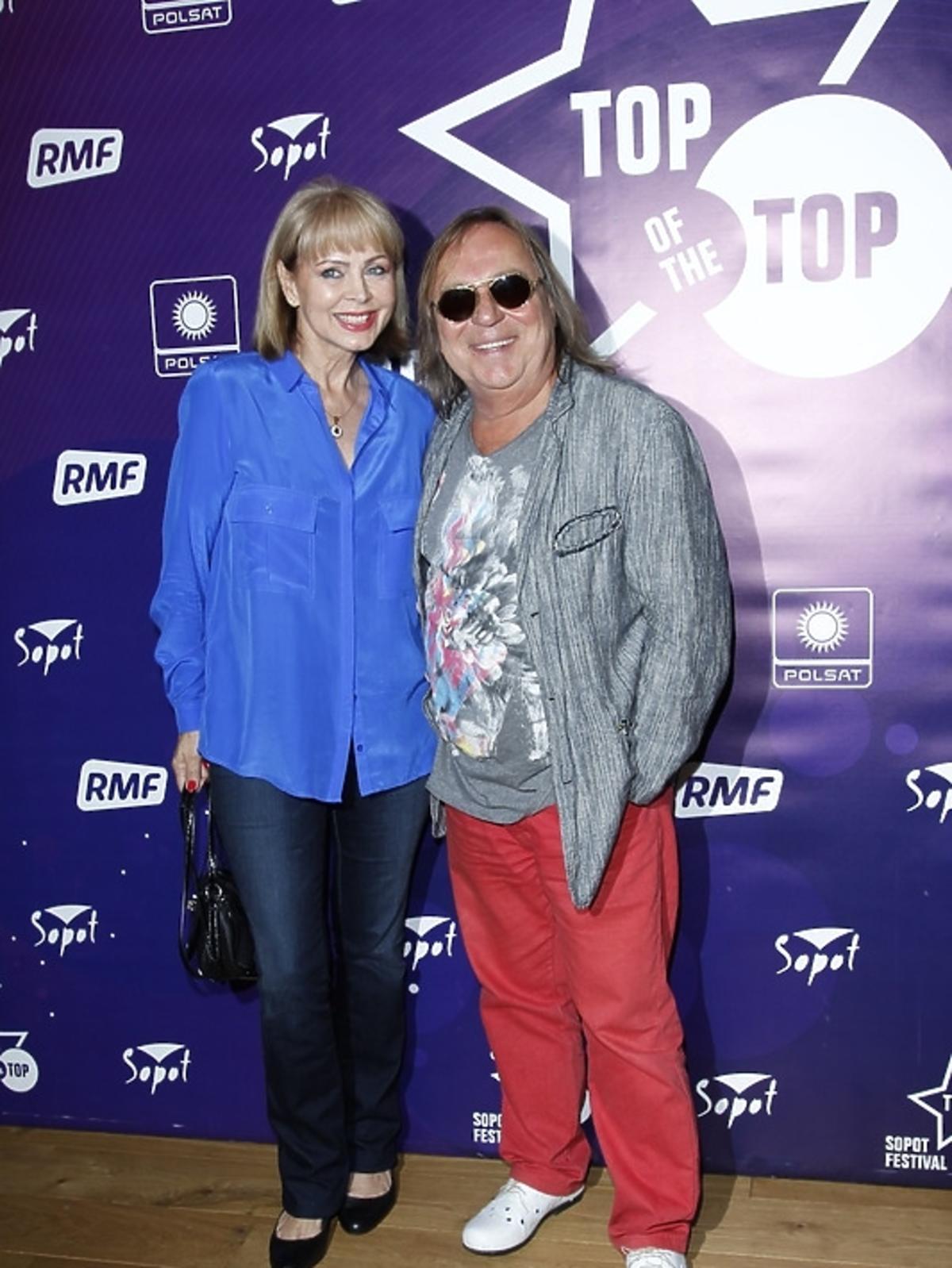 Izabela Trojanowska i Romuald Lipko na festiwalu Top of the Top 2013 w Sopocie