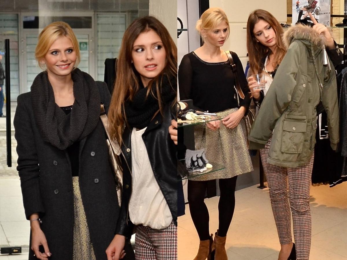 Izabela Zwierzyńska i Klaudia Halejcio na zakupach w salonie Di Trevi Fashion w Katowicach