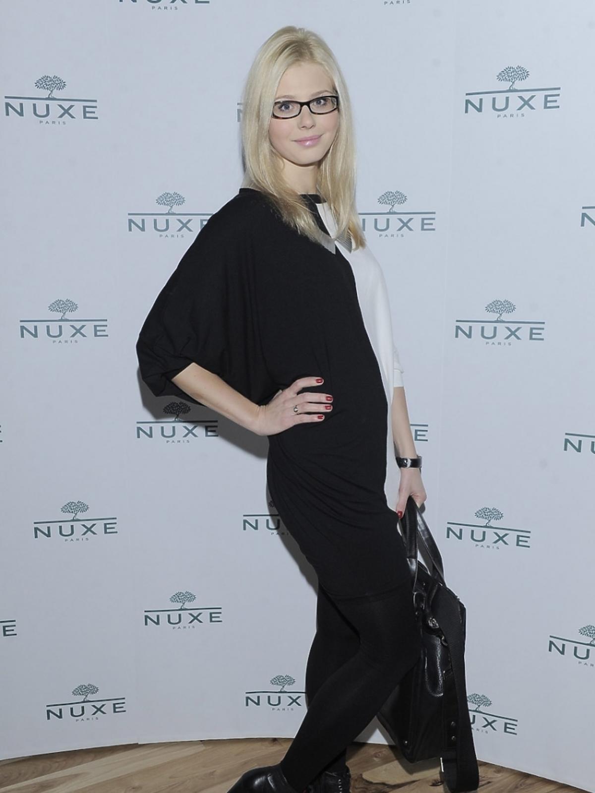 Izabela Zwierzyńska na konferencji prasowej Nuxe Nuxellence Jeunesse