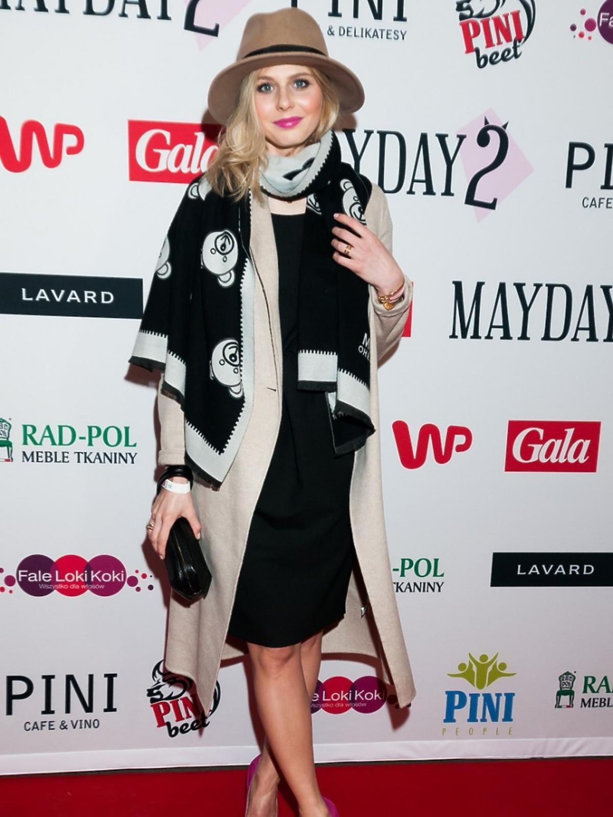 Izabela Zwierzyńska na premierze spektaklu Mayday 2