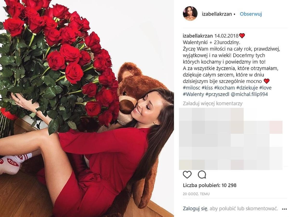 Izabella Krzan jest zakochana?