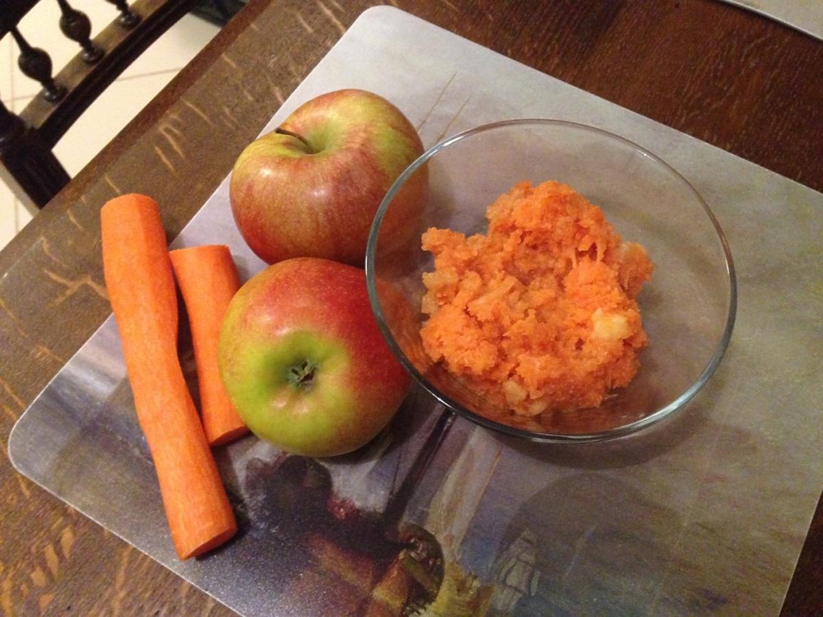jabłko i marchew