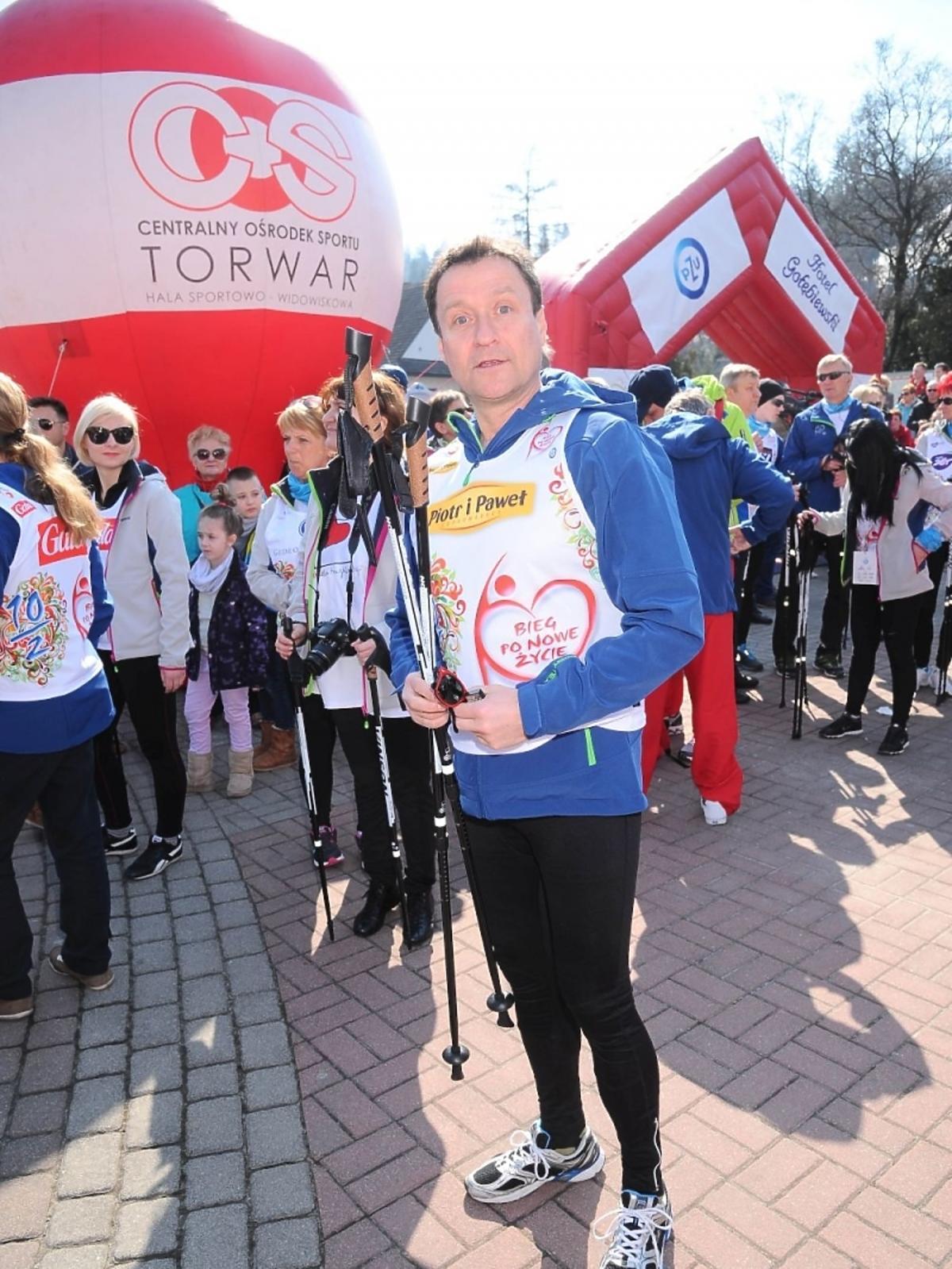 Jacek Kawalec na charytatywnym biegu