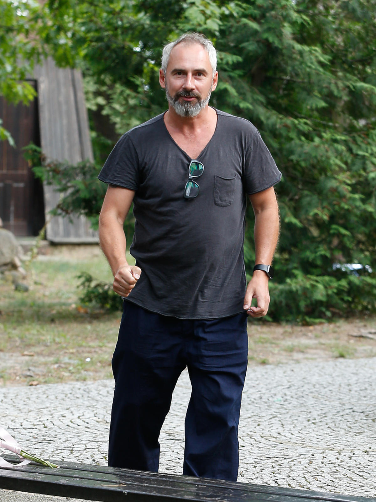 Jacek Kopczyński na ślubie aktorkiej pary z Na Wspólnej
